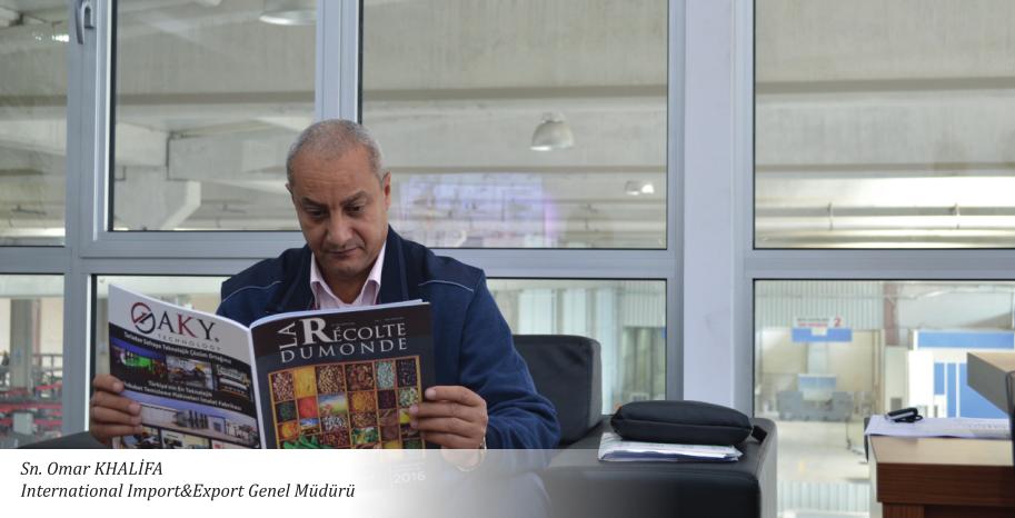 """Omar KHALIFA: """"Yeni makineler ile üretimim %50 arttı."""""""